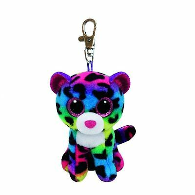TY Beanie Boo Key Clip 3 Inch Dotty the Leopard Multi Coloured - Plush