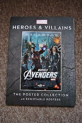 Marvel Heros & Villains Poster collection book.