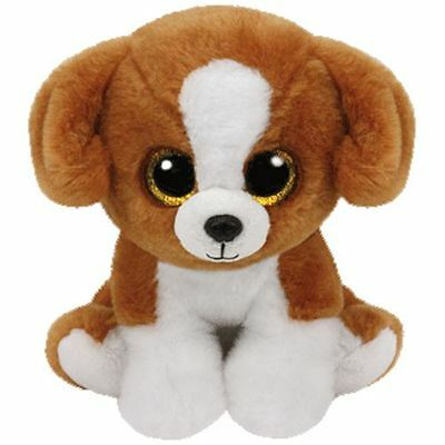 "TY Beanie Boo 9 Inch Snicky the Brown & White Dog Buddy - 9"" Collectable"