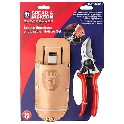 Spear And Jackson Bypass Secateurs And Leather Holster Set Cuttingset4