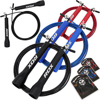RDX Skipping Speed Jump Rope Boxing Exercise Gym Crossfit Training Adjustable