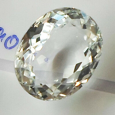 11.80Ct. Aaa! Natural White Brazil Topaz Oval
