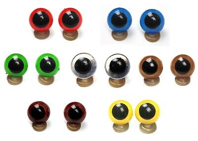 8-20 mm Plastic Safety Eyes Blue Green Red Brown Amber Amigurumi Toy Teddy Bear