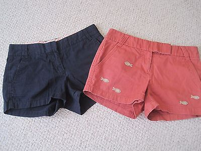 2 Pair J Crew Shorts Size 4