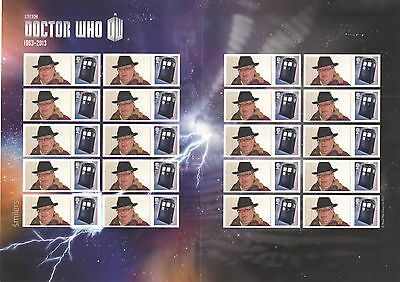 CS-051 2013 Doctor Who 50th Anniversary (1) Customised Smilers Sheet