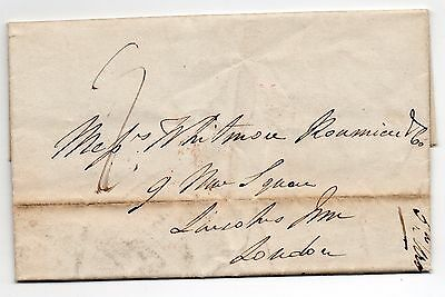 1839 entire letter from Coventry to London