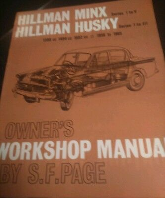 Haynes Original Hillman Minx Husky Manual Series 1 To V 1956 / 65