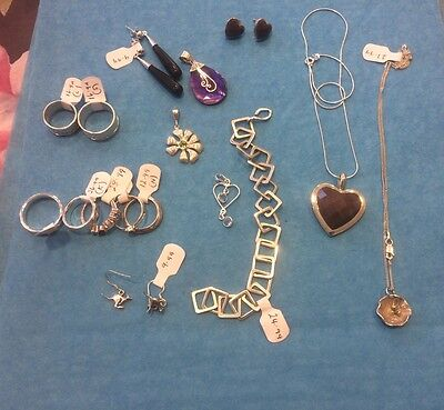 Ex Jewellers Stock Wholesale Lot New Sterling Silver & Gemstone Mixed Jewellery