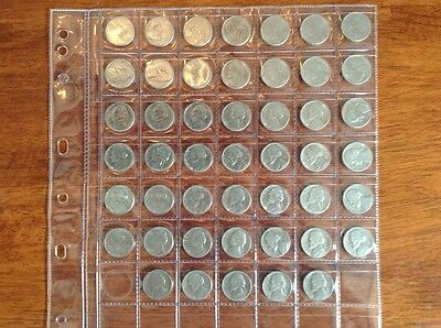 Set of American Nickels. 1961 to 2006.  ( Five cent coins)