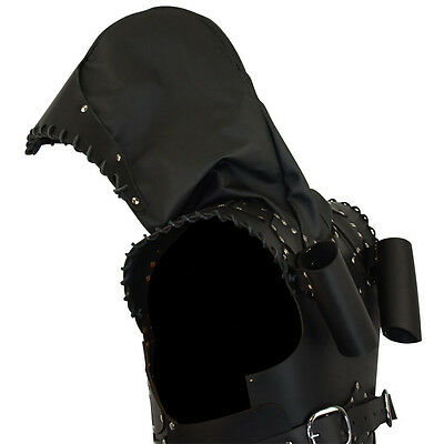 Rogue Leather Armor W/ Hood, Black, LARP, Duel Sword, Medieval, Cosplay