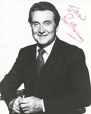 """PATRICK MACNEE in THE AVENGERS (1960s) Hand-signed 10"""" x 8"""" portrait"""