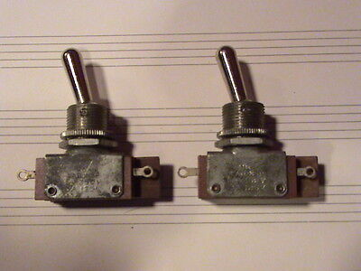 LOT OF (2) UND LAB INSP  H&H 1A 250v 3A 125v USA MADE VINTAGE SWITCH NOS