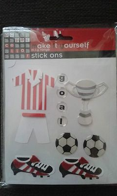 Football themed Stickers toppers for card making scrap booking crafts