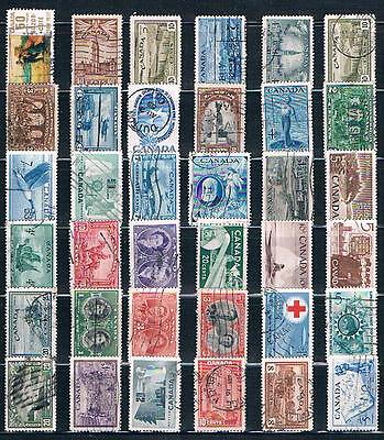 Canada : 36 Used  Stamps