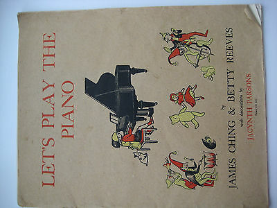 Let's Play The Piano Music Book for Children 1936