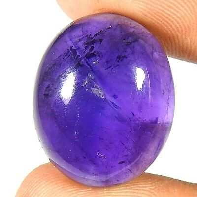 21.70Cts. 100% NATURAL ROYAL PURPLE  AMETHYST OVAL CABOCHON AFRICAN GEMSTONE