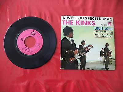 disque vinyle 45 tours the kinks - a well-respected man