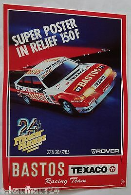 Aufkleber BASTOS TEXACO ROVER SD1 24h Spa Francorchamps 1985 Sticker Autocollant