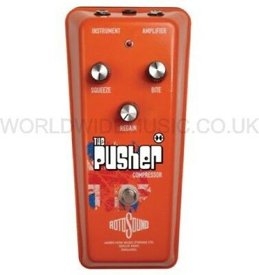 Rotosound RPU1 The Pusher Compressor Electric Guitar Effects FX Pedal