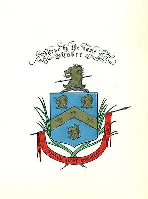 *Great Coat of Arms Taber Family Crest genealogy, would look great framed!