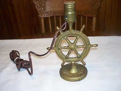 Nautical Theme Iron Ships Wheel Table Lamp