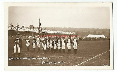Dorset Bournemouth Centenary Fete 'Young England' Real Photo Vintage Postcard