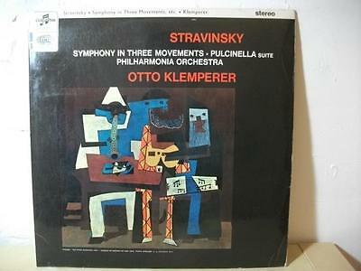 SAX 2588 STRAVINSKY Symphony in 3 Movements KLEMPERER COLUMBIA R/S STEREO LP EX