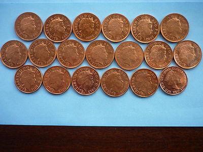 Collection of One Penny coins 1998 - 2015, including varieties