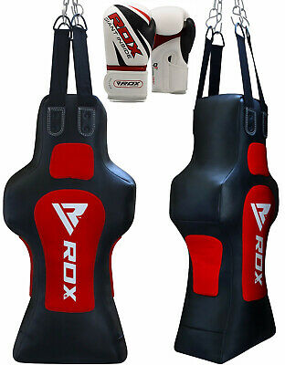 RDX Heavy Punch Bag Torso Dummy Boxing Gloves Grappling Body Slam Man Pads Red