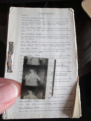 Original Script & Film Cell The Invisible Man Shadow On The Screen 1959 Rare