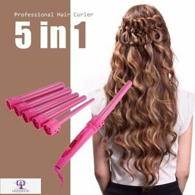 Fashion Ceramic Curling Wand Set 5 in 1 Hair Curling Iron Best Hair Curle Tools