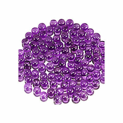 5 PIECES OF 4mm ROUND CABOCHON-CUT NATURAL BRAZILIAN AMETHYST GEMSTONES £1 NR!