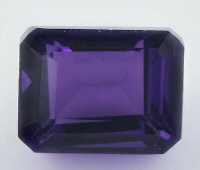 10x8mm OCTAGON-FACET DEEP-PURPLE NATURAL AFRICAN AMETHYST GEMSTONE £1 NR!