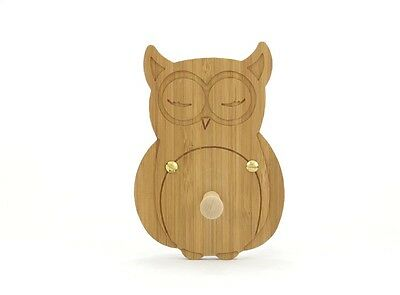 Wooden Baby Owl Coat Hook for nursery playroom clockroom bedroom