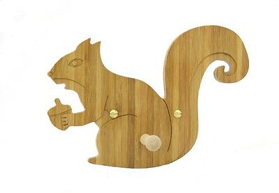 Wooden Baby Squirrel Coat Hook for nursery playroom clockroom bedroom