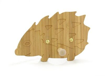 Wooden Baby Hedgehog Coat Hook for nursery playroom clockroom bedroom