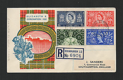 Great Britain - Registered Cover - Queen's 1953 Visit