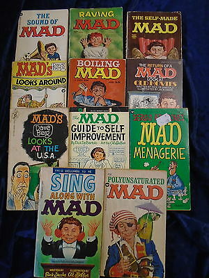 * 11 RAVING MAD BOOKS by VARIOUS AUTHORS * UK POST £3.25* PAPERBACKS*