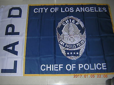 Flag of Chief of  Police of  City of  LA Los Angeles Police Dept  LAPD Ensign