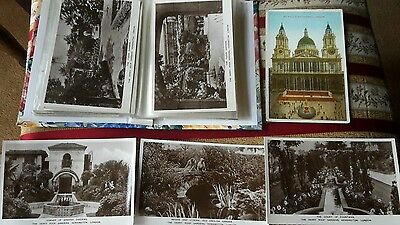 Postcard Album & 80 Old Postcards Of London & Surrounding Areas