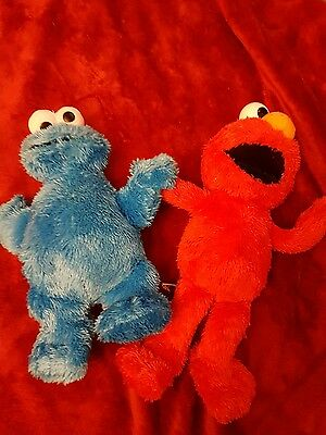 Sesame Street Talking Elmo Furchester Hotel Hasbro and soft cookie monster