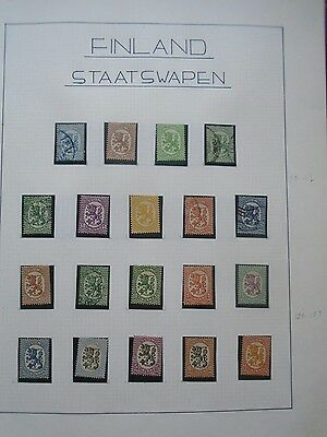 Classic Lot Suomi Finland Finnland Coat Of Arms Vf Used Vfmlh Good Quality 0.99$
