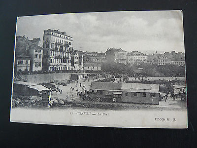 17 CORFOU - Le Port - sent by Albert on HMS Sepoy at Corfu