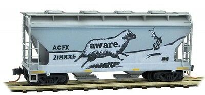 Micro-Trains N 092 44 330 2-Bay Covered Hopper Weathered Acfx Rd#218835