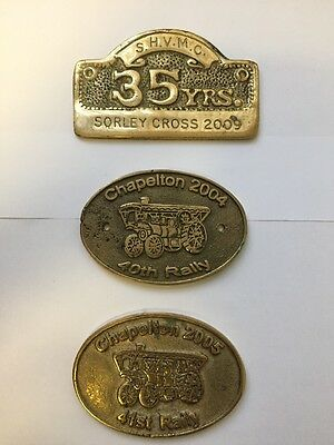 Chapelton Steam Engine Rally & Sorley Cross Rally Collectable Brass Plaques