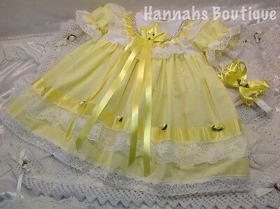Hannahs Boutique Sale 9-12 Month Baby Frilly Dress & Headband Set