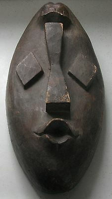 Slightly Unusual Hand Carved Mahogany Two Faced Mask Unknown Maker