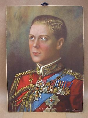 King Edward VIII ~ 1937 Coronation ~ Calendar with Print by Chas Willis ~ Quotes