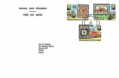 7/7/79 Sir Rowland Hill Fdc (Ivory Coast)