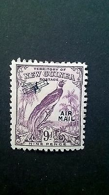 1932 - New Guinea 9d King George V Airmail stamp